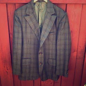 Men's Vintage 60s Olive green 46R sports coat